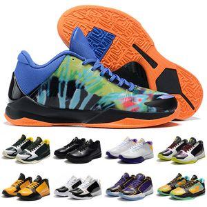 Yüksek Kaliteli Çocuk Kadınlar Erkek Mamba V Lakers Sneaker 5 Çıkış Protro Basketbol Ayakkabı Black Mamba 2k Beş Sneakers Boyut 40-46