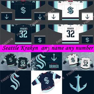 Seattle Kraken Jersey 32th Nuova squadra di hockey Maglie 2021 Stagione Mens 32 KRAKEN 21 KRAKEN 22 Jack Flaherty 100% del ricamo cucito Maglie