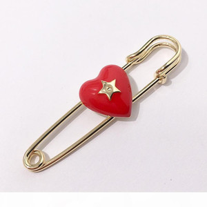 R Hot New High Quality Fashion Brand Brooch For Scarf Buckle And Jewelry Heart Brooch Come With Dust Bag