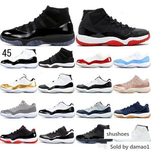 With Socks Concord High 45 11 11s Cap And Gown Heiress Chicago Platinum Tint Space Jams Men Basketball Shoes Sports Sneakers 36-47