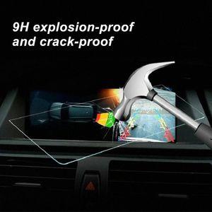 7 polegadas Protector Limpar Film tampa Oleophobic GPS Car Navigator protecção de vidro temperado Screen Display para 18 Camry 5HRE #