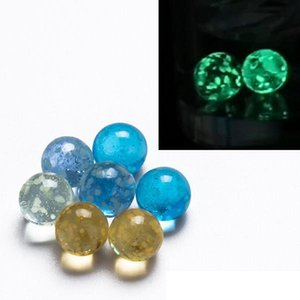 6mm Glass Terp Pearls Insert Bead Luminous Glowing In Dark Blue Clear Orange For Flat Top Quartz Banger Nails