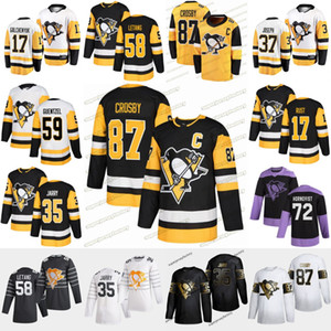 Pittsburgh Penguins 2020 Sidney Crosby Kris Letang Jake Guentzel Zach Aston-Reese Bryan Rust Tristan Jarry Dominik Simon Hockey Jersey