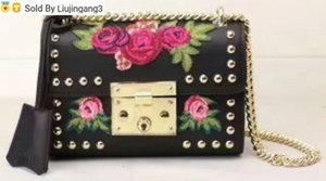 432182 black embroidery Top Handles Boston Totes Shoulder Crossbody Belt New Backpacks Mini Bag Luggage Lifestyle Bags