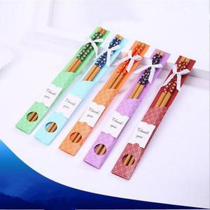 Bamboo Chopsticks Prático Chopstick Natural Woodiness New Style Chopsticks casamento personalizado favores brindes Souvenir EEA903-3