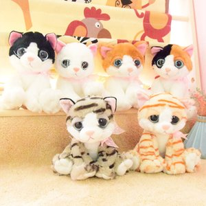 Cute big-eyed cat plush toy new kitten doll cat cat doll children birthday gift wholesale custom