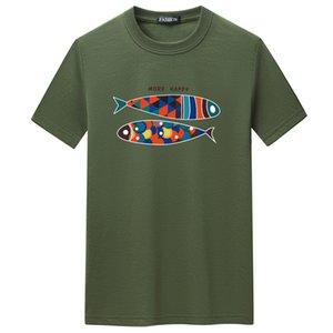 Men's 2020 fashion Summer Cotton Round Neck Men's T-shirt O-neck T Shirt Men Black tees male female t shirts