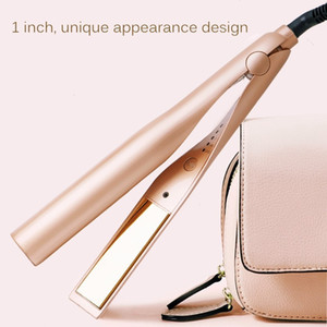 2-in- Staightening&Curling 1 inch Temperature adjustable Spiral twist hair straightener rotating bevel twist curling Hair Straightener