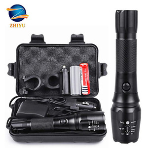 ZHIYU Rechargeable Tactical LED torch 18650 4200mAh Battery L2 Waterproof Big Torch Portable Adjustabl Camping light