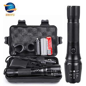 Zhiyu nachladbare taktischer LED-Taschenlampe 18650 4200mAh Batterie L2 wasserdichtes große Fackel bewegliches adjustabl Camping Licht