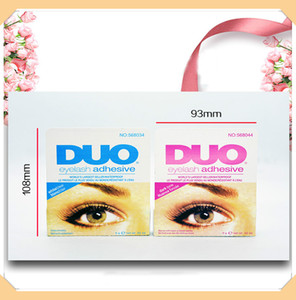 Duo Cils Adhésifs Cils colle brosse sur blanc noir adhésifs clair 5 g nouvel emballage Outil de maquillage DHL