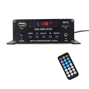 AK9 Digital Audio Player BT Power Amplifier LCD Display BT Amplifier Amp Speaker with Remote Control for Car Home