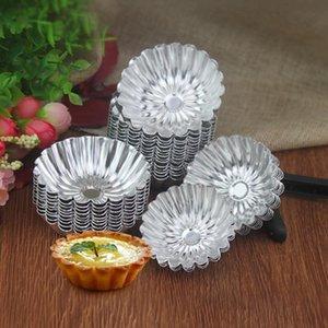1000pcs lot Flower Cake Egg Tart Mold Aluminium Alloy 5 cm Cupcake Cake Cookie Baking Tool Mold DIY Wedding Baking Egg Tart Tools