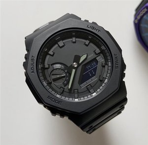 Erkek Adam Erkek Açık izle Spor Şok Kol Erkek LED Dijital Quartz Saat Hediyesi 2100 Royal Oak İzle Yeni G Stil Yeni Saatler
