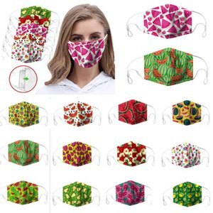 Fruit imprimé visage masque peut mettre le coton adulte filtre crème solaire anti-buée et masques designer poussière lavable XD23713