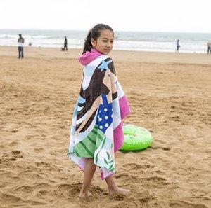 Новая детская Полотенце плаща с капюшоном хлопка младенца Абсорбент пляжное полотенце бассейн Полотенце Солнцезащитный Быстросохнущий Изменение халат