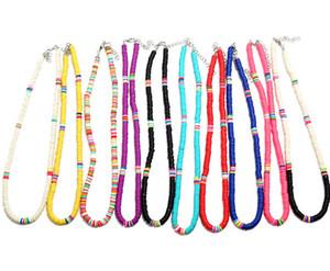Boho Arcobaleno Confetti Choker collana per le donne Funfetti rilievo brevi catene Chokers Summer Beach Jewelry