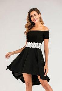 Dress Women's National Style Retro Polyester Mid Calf Dresses Slash Neck Chemical Fiber Party Natural Color Raglan Sleeves