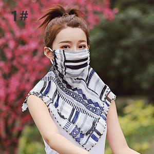 Bufanda para mujer de la gasa de Protección Solar Cara exterior de conducción de ciclo del envío sombrilla libre del cuello protector solar máscara de seda en línea DHE53