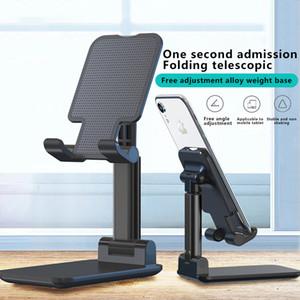 Универсальный складной держатель мобильного телефона Металл Tablet Stand Регулируемый держатель для iPhone Samsung Huawei Xiaomi OnePlus Desktop Support