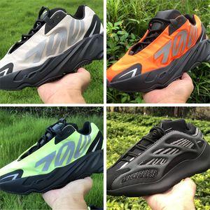 Kanye West Ayakkabı 700 V3 Fosfor Kemik Üçlü Siyah Turuncu Azael Alvah dahil son 700 MNVN Sneakers alışveriş eğitmen Erkekler Kadınlar Tasarımcı