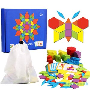 Hot Sale 155pcs Wooden Jigsaw Puzzle Board Set Colorful Baby Montessori Educational Toys for Children Learning Developing Toy CX200711