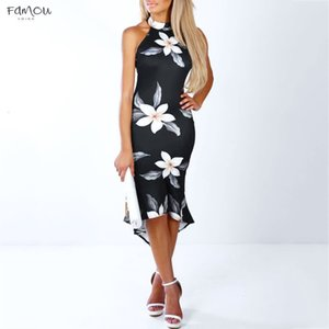 Fashion Women Summer Dress Vestidos Verano Women Off Shouder Blooming Babe Floral Dip Hem Party Evening Bodycon Midi Dress