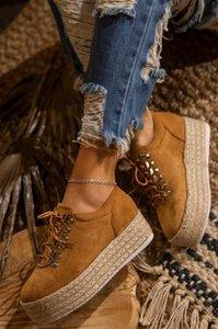 Shujin Женщины Круглый Toe Плоская обувь платформы пятки кроссовки Женщины Весна Осень толстым дном Lace Up вскользь Mujer обувь