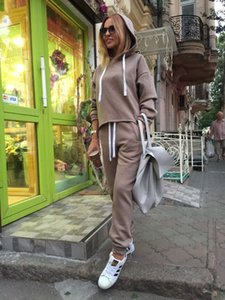 designer Europe and the United States explosion models 2020 hot summer women's hooded umbilical sweater set two-piece wholesale
