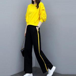 tracksuit women sportwear two piece set Women Long Sleeve Split 2 Piece Set Casual Long Pants Casual Outfit Sportswear#g4