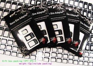 3 in 1 Nano Micro Sim Card Adapter, R-sim Adapter for iPhone 5 5G 5th (300pcs) 100set lot Black