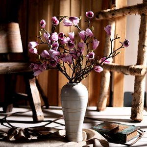 yumai 85cm Silk Magnolia Artificial Flowers Long Branch Orchid Home Decor Fake Flower Wedding Scene Decoration Photography Props