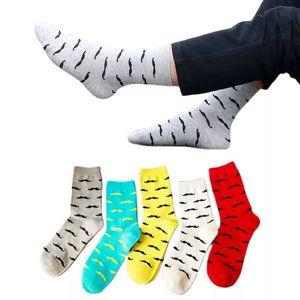 Men's Socks Casual Cotton Socks Beard Pattern Sock Football Socccer Middle Tube Socks Cool Skate Sock Outdoor Sports Sock YFA2083