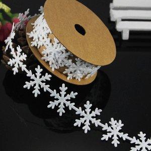 Kar tanesi Dantel Şerit Yüksek Kalite kar tanesi Şerit Kabartmalı Noel Diy Malzemeleri Düğün Hediye ysAK # Malzemeleri
