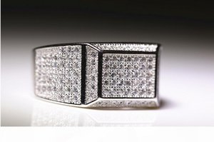 A Victoria Wieck Luxury Jewelry Pave 925 Sterling Silver Full Stunning White Sapphire Cz Diamond Men Engagement Band Ring Gift Size 8 -