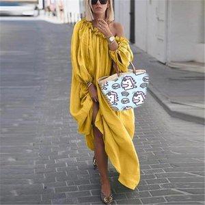 Estate delle donne plus size abito colore solido lettera stampata vari stili Womens Dress Abbigliamento Abiti Designer di lusso