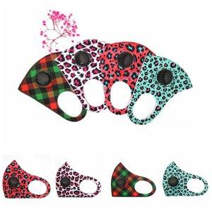 Camo дыхательный клапан маски Маски Леопард лицо с Breath Valve Взрослый Камуфляж дыхательный клапан Face Cover Многоразовые рот муфельной CCA12385