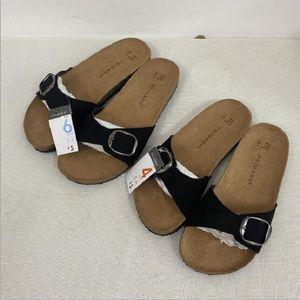 Cheap Summer Woman Sandals Flat Slippers Suede Sandals Cork Sole Slides Casual Flip Flop Beach Slippers Flats Shoes Plus Size 36-41