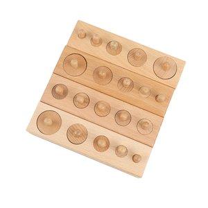 Ahşap Oyuncak Montessori Eğitim Silindir Soket Oyuncak Childern Geliştirme Uygulama Senses Matematik Zeka Çocuk Y200414 Bulmaca