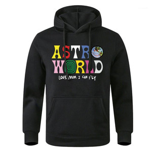 Diseñador Pullover Fleece con capucha de manga larga Hoddies Carta Homme ropa de moda casual Regular Longitud Ropa para hombre con capucha AstroWorld