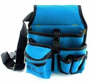 Sunred azul de alta calidad con la bolsa de herramientas 600D negro electricista desity NO.104 freeshipping lHGk #