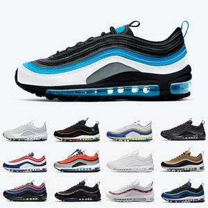 Nike Air max 97 Aqua Blue airmax 97 Mens Running shoes Have A NIKE DAY USA Ghost Worldwide White Black Easter MSCHF x INRI Jesus 97s UNDEFEATED men women sports designer sneakers