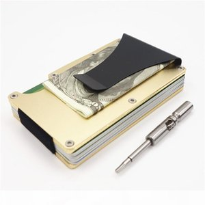 P Best Deal 2018 New Fashion Id Holder Travel Mini Rfid Wallet Men Slim Business Card Case Male Money Clip Small Wallets