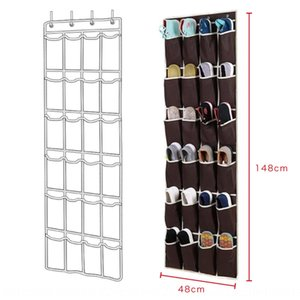 Behind the door wall multi-pocket storage Slippers slippers shoes sundries hanging bag small items storage hanging bag