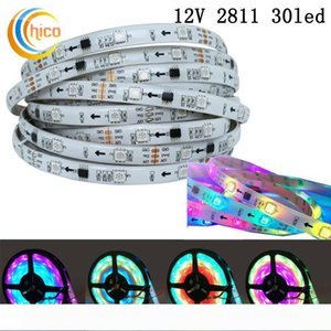 WS2811 Addressable Smart LED Strip Ribbon Light 5050 RGB SMD 150 Pixels Dream Color Changeable Effects Waterproof IP65 Black White PCB DC12V