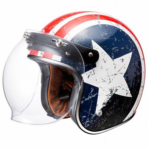3 sanp Vintage pára-brisa Durable Motorcycle Lens bolha escudo de vento Viseiras Capacete Visor retro-brisas qP8Z #