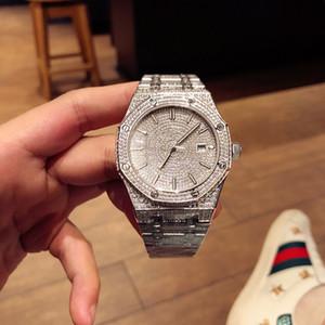 qualidade dos homens altos relógios relógio de diamantes 41 milímetros montre de luxe 3120 movimento relógio automático reloj de lujo