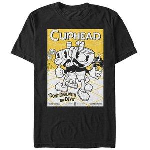 Cuphead Teamwork Poster Mens Graphic T Shirt куртка хорватия кожа тенниска
