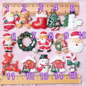 Hot Sale Christmas Decoration Fridge Magnet Holiday Accessories Super Cute Christmas Gift 14 Types Free Shipping