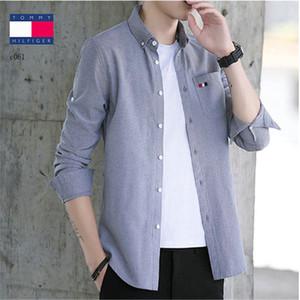 Shirt 2020 Mens Business Dress Shirts Men Shirt French Cuff Fashion Tops Men Clothes Spring Autumn Man Social Shirts